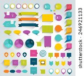 collections of infographics... | Shutterstock .eps vector #246921133