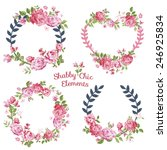 flower banners and tags   for... | Shutterstock .eps vector #246925834