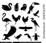 set of various bird icons  swan ... | Shutterstock .eps vector #246926194