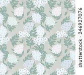 abstract flower seamless... | Shutterstock .eps vector #246927076