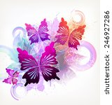 fantasy watercolor vector... | Shutterstock .eps vector #246927286