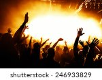 dancing people in a disco | Shutterstock . vector #246933829