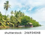 equatorial forest and boats on... | Shutterstock . vector #246934048
