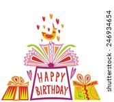 happy birthday greeting card...   Shutterstock .eps vector #246934654
