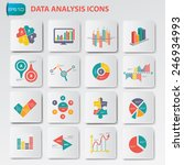 data analysis icons on buttons... | Shutterstock .eps vector #246934993