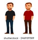 cool cartoon guy with beard in...   Shutterstock .eps vector #246939589