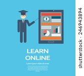 online learning education... | Shutterstock .eps vector #246943894