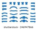 set of ribbons.ribbon banner... | Shutterstock .eps vector #246947866