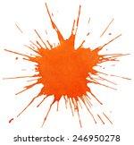 blot of orange paint isolated...   Shutterstock .eps vector #246950278
