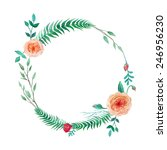 Watercolor Garden Roses Wreath...