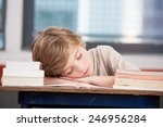 tired child sleeping while... | Shutterstock . vector #246956284