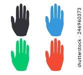 Hand Icon   Colored Vector...