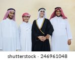 happy group of middle eastern... | Shutterstock . vector #246961048