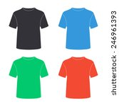 t shirt icon   colored vector... | Shutterstock .eps vector #246961393