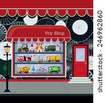 toy shop fronts along the city... | Shutterstock .eps vector #246962860