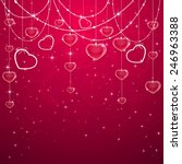 pink valentines background with ... | Shutterstock .eps vector #246963388