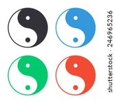 yin yang symbol icon   colored... | Shutterstock .eps vector #246965236