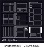 web layouts   eps10 vector