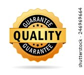 quality guarantee icon | Shutterstock .eps vector #246969664