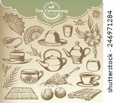 vintage sketches items for tea... | Shutterstock .eps vector #246971284