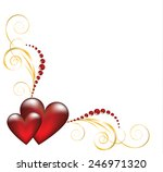 decorative jewelry corner... | Shutterstock .eps vector #246971320