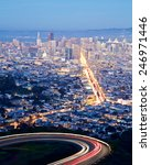 san francisco cityscape and... | Shutterstock . vector #246971446