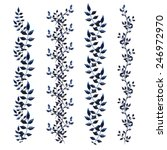 various leaves in watercolor.... | Shutterstock .eps vector #246972970