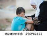arabic muslim middle eastern...   Shutterstock . vector #246981538