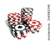 stack of casino chips   Shutterstock . vector #246983248