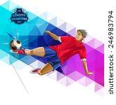 vector concept of soccer player ... | Shutterstock .eps vector #246983794