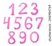 set of ten number digit... | Shutterstock . vector #246984769