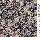 abstract seamless lace pattern... | Shutterstock .eps vector #246989368