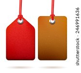 two fabric red and brown... | Shutterstock .eps vector #246991636
