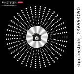 on a black background circle of ... | Shutterstock .eps vector #246994090