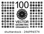 editable round east ornament... | Shutterstock .eps vector #246996574