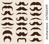 set of vector mustaches in... | Shutterstock .eps vector #247002499