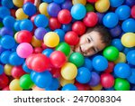 happy kid playing in playground | Shutterstock . vector #247008304