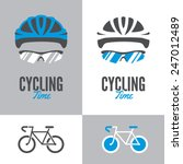 bicycle icon and graphic sign... | Shutterstock .eps vector #247012489