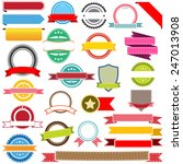 set of vector ribbons  labels ...   Shutterstock .eps vector #247013908
