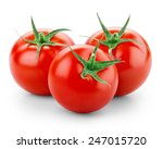 three tomatoes isolated on... | Shutterstock . vector #247015720