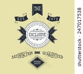 hand lettered catchword vintage ... | Shutterstock .eps vector #247017538