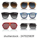 sunglasses vector set | Shutterstock .eps vector #247025839