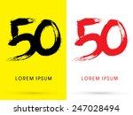 50  chinese brush grunge font ... | Shutterstock .eps vector #247028494