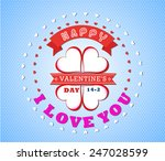 valentines day invitation...   Shutterstock .eps vector #247028599