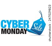 cyber monday sale sign with...   Shutterstock .eps vector #247029823
