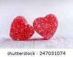 Two Cinnamon Heart Candies...