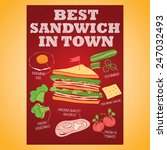 sandwich vector | Shutterstock .eps vector #247032493