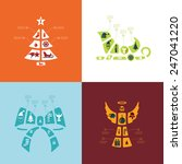 christmas flat infographic | Shutterstock . vector #247041220