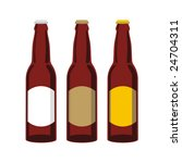 isolated beer bottles set | Shutterstock .eps vector #24704311