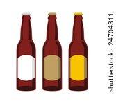 isolated beer bottles set | Shutterstock .eps vector #24704311
